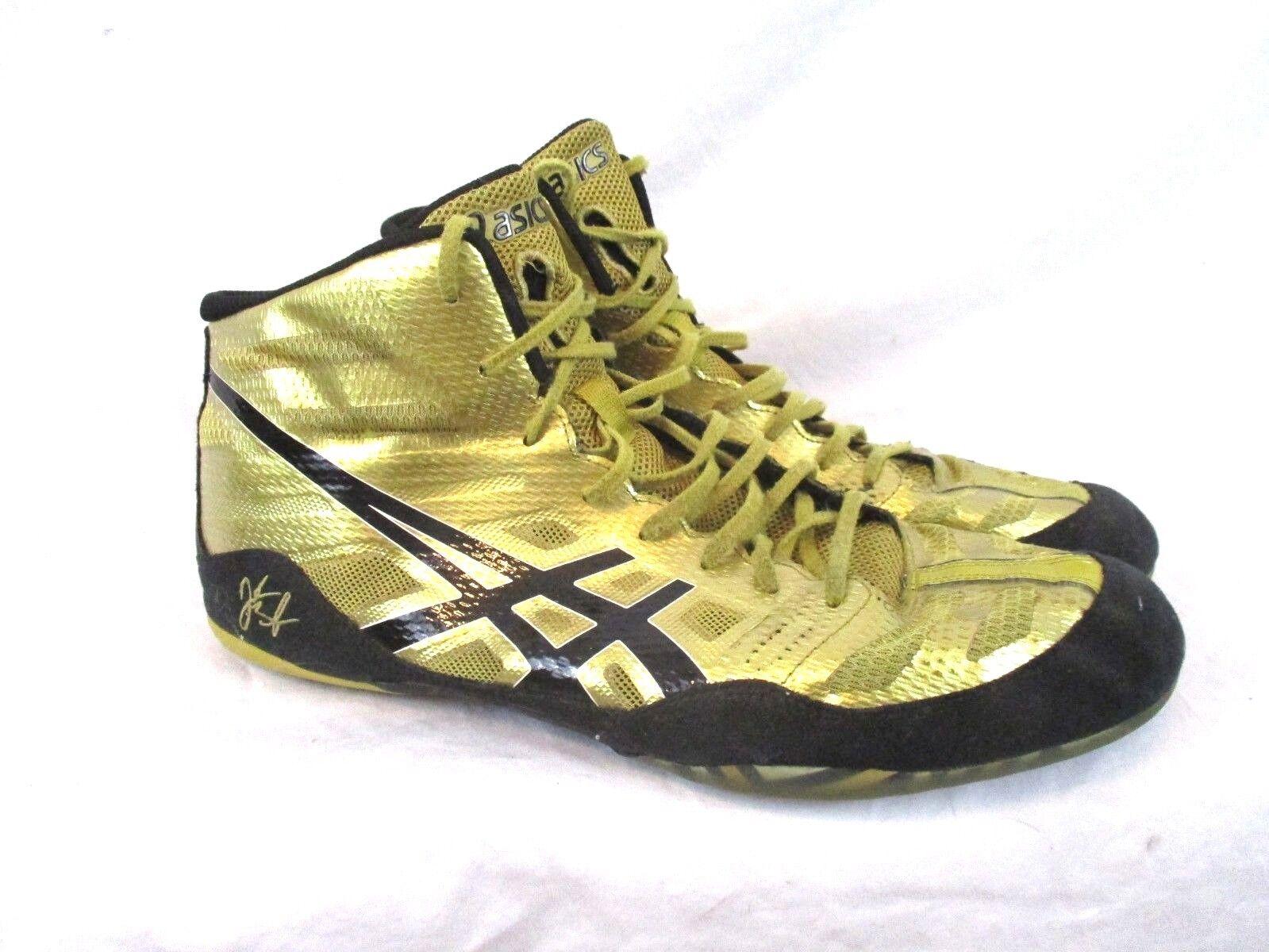 ASICS Homme JB Elite Wresting Chaussures Olympic Doré Metallic Noir Sz 13 J3A1Y SS4