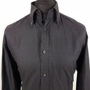 JOOP-Mens-Formal-Shirt-39-15-5-MEDIUM-Long-Sleeve-Graphite-Regular-Cotton