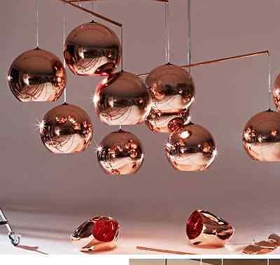 Modern DIY Ceiling Lamp Light Glass Ball Pendant Lighting Bulb Home Bar Decor