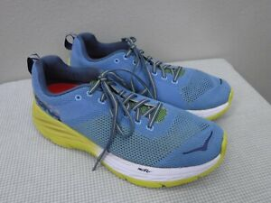 HOKA-MACH-10-44-Blue-Mesh-Lace-Up-Athletic-Fitness-Running-Trail-Sneakers-Shoes