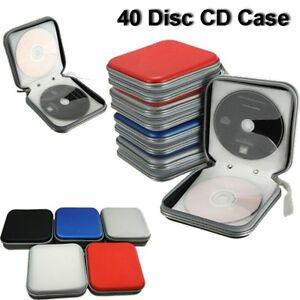 40-Disc-Double-side-CD-Storage-Case-Organizer-Holder-Hard-Box-Wallet-Album-New