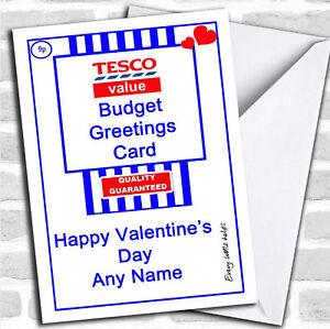 Funny Joke Tesco Value Spoof Valentine S Customised Card Ebay