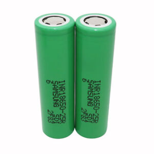 2X-18650-Battery-2500mAh-3-7V-Li-ion-High-Drain-25R-Rechargeable-for-Power-Bank
