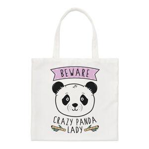 Beware-Crazy-Panda-Lady-Regular-Tote-Bag-Funny-Animal-Cute-Shoulder