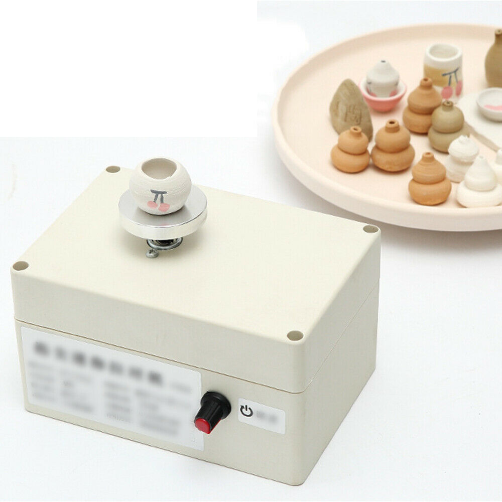 TTLIFE Mini Pottery Wheel Mini Pottery Machine with Tray 2000RPM Electric Pottery Wheel DIY Clay Tools Adult Children Ceramic Art with Tray