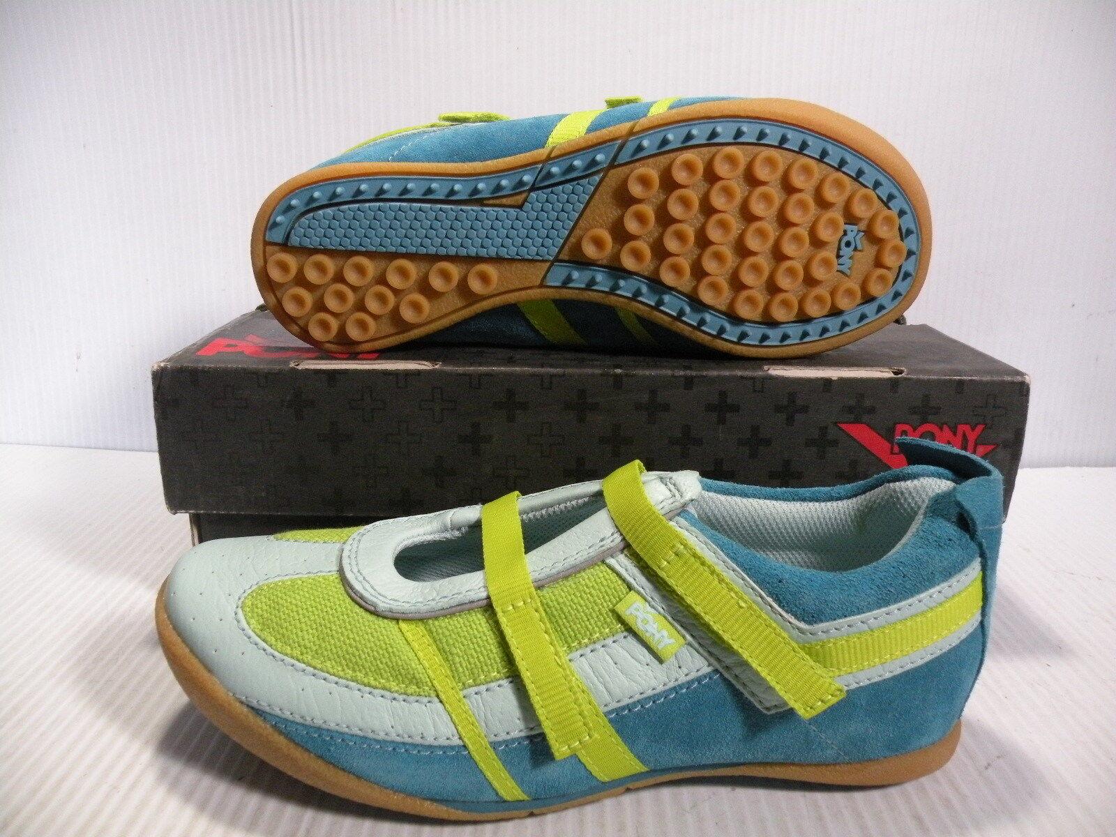PONY PANACHE LOW CHEVRON scarpe da ginnastica donna scarpe SKY LETTUCE 3103 Dimensione 7.5 NEW
