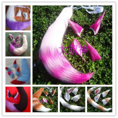 Anime Spice and Wolf Holo Fox Ear Tail 55 CM Size Halloween Cosplay Prop Cos #