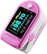 Pulse Oximeter Fingertip CMS50D / FL350 Blood Oxygen SpO2 Monitor FDA - Pink