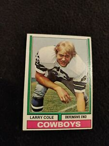 1974 Topps Larry Cole rookie football card #478 Dallas Cowboys EX