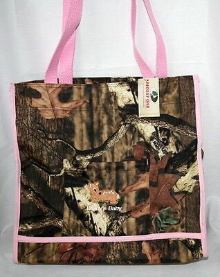 MOSSY OAK INFINITY CAMO CAMOUFLAGE & PINK DIAPER BAG, or TOTE DADDY'S BABY