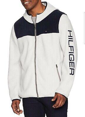 Tommy Hilfiger Mens Hooded Performance Fleece Jacket Fleece Jacket