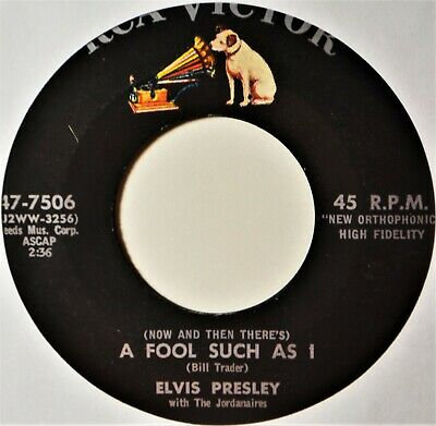 """Elvis Presley A Fool Such As I Need Your Love Tonight 45 7"""" Vinyl ..."""