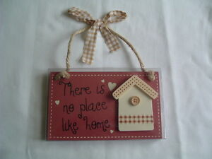 WOODEN-HANGING-PLAQUE-SIGN-DECORATION-HOME-SHABBY-CHIC-BNIB