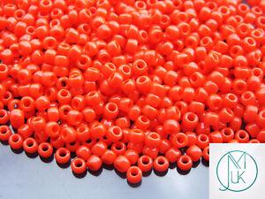250g-50-Opaque-Sunset-Orange-Toho-Seed-Beads-6-0-4mm-WHOLESALE