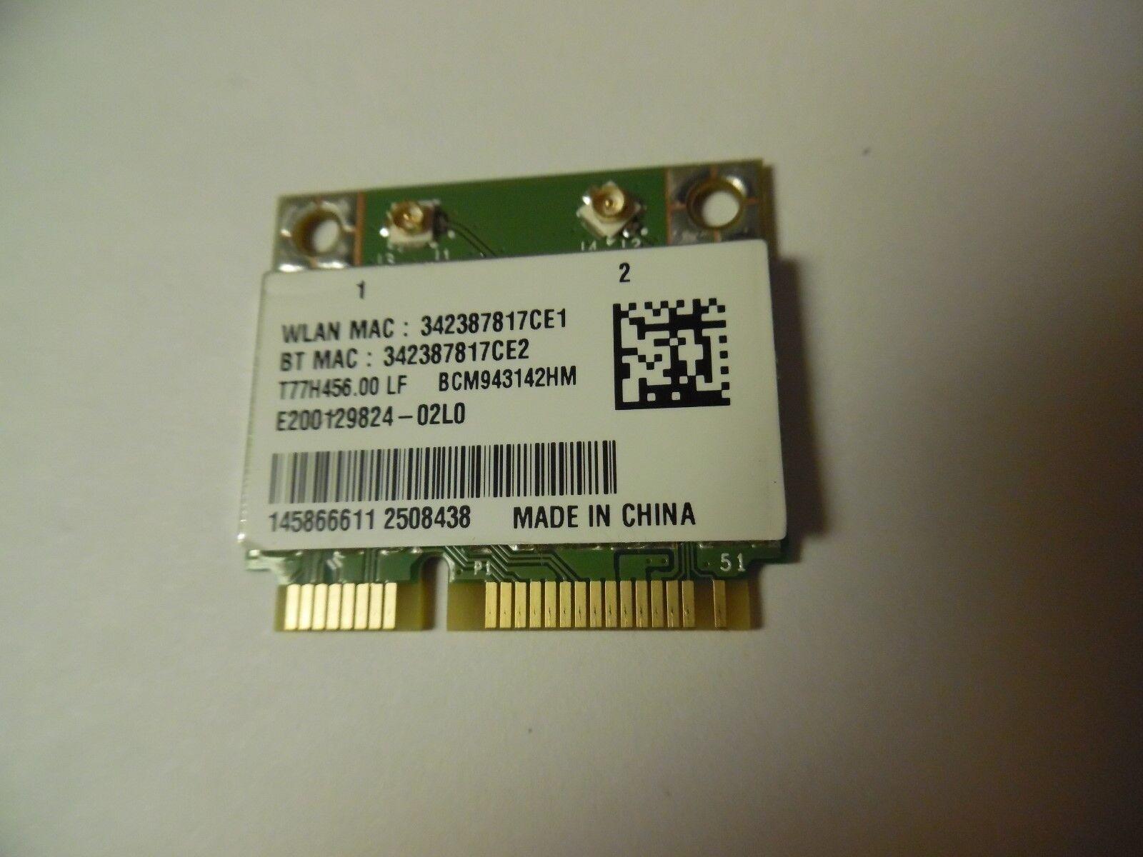 1-458-666-11 Sony Vaio SVF14 SVF15 Mini PCI-e WLAN Wireless BT Card BCM943142HM