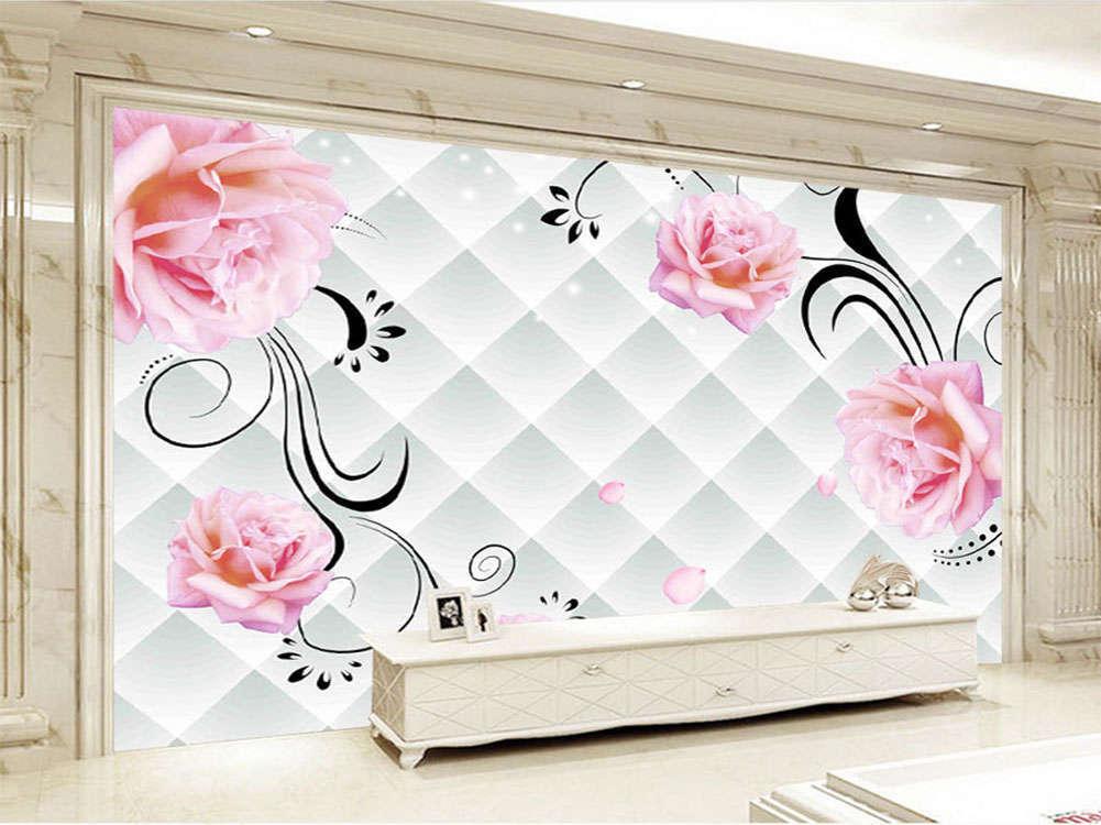Noble Graceful Roses 3D Full Wall Mural Photo Wallpaper Printing Home Kids Deco