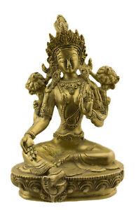 Soprammobile Tibetano Da Verde Tara Bodhisattva Tibet 21cm 1kg500 Ottone 4580