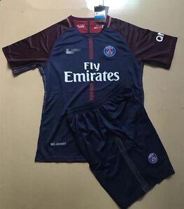 2017/2018 Paris home Soccer jersey Short sleeve T shirt set