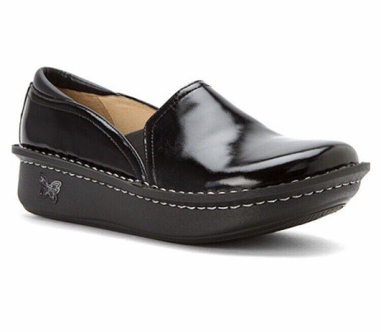 New IN BOX donna Dimensione 36 ALEGRIA DEBRA WAXY WALKING scarpe nero DEB001