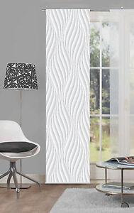 Details Zu Flächenvorhang Schiebevorhang Digital Bedruckt 60x245 Wave Grau Modern Abstrakt