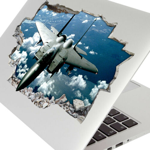 Wall Stickers Army Aircraft Fighter Jet Sky Bedroom Girls Boys Laptop Room D181