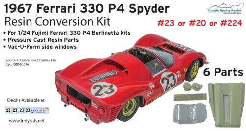 1//24 Daytona Spyder resin conversion kit for Fujimi Ferrari 330 P4 Sportscar GT