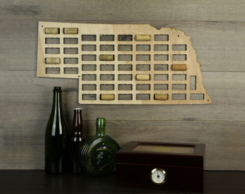 Wine Cork Traps State of Nebraska Wood Wine Cork Organizer Wall Decoration