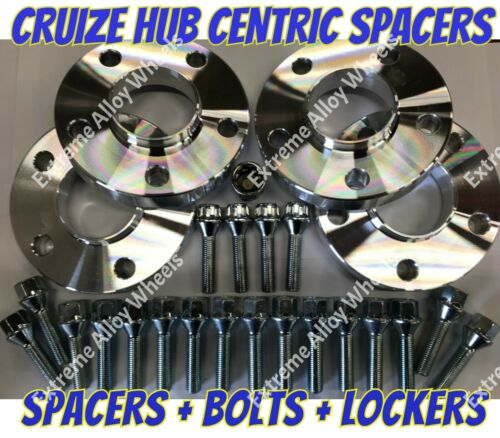 LOCKING BOLTS S CRUIZE ALLOY WHEEL SPACERS 15mm 20mm BMW TO VW T5 T6 M4X1.5