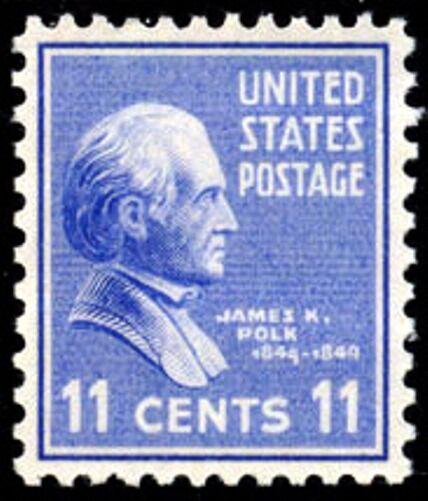 1938 11c James K. Polk, 11th President Scott 816 Mint F