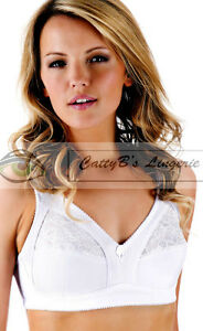 BNWT-White-Bra-Soft-cup-Full-Firm-Support-Wide-Strap-34-36-38-40-42-44-B-C-D-DD