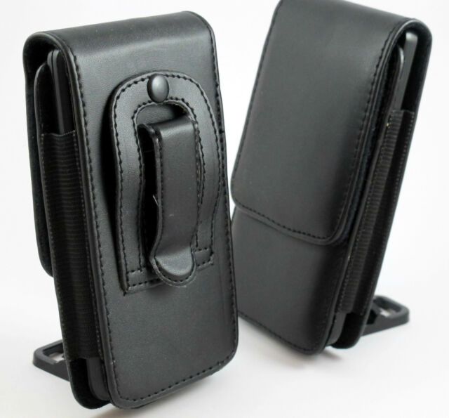S BLACK VERTICAL LEATHER BELT CLIP POUCH CASE COVER HOLDER VARIOUS NOKIA PHONES