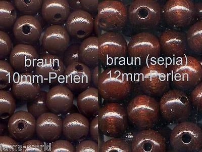Deutsche Holzperlen  10 und 12mm Ø Uni und Mischungen Speichelfest