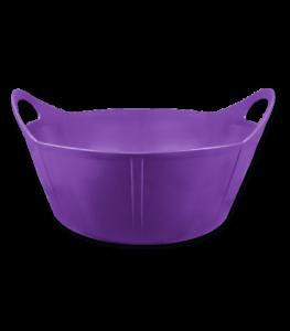 Futtereimer weicher Eimer Futtertrog 15 Liter lila Flexischale Futterschale