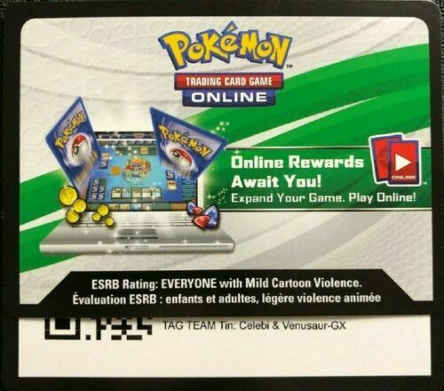 Pokemon TCGO Celebi /& Venusaur GX SM167 ONLINE CODE Team Up SKU#263