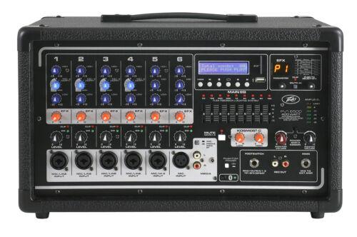 Peavey Pvi6500 400 Watt 6-Channel Powered Live Sound Mixer w// Bluetooth PVI 6500
