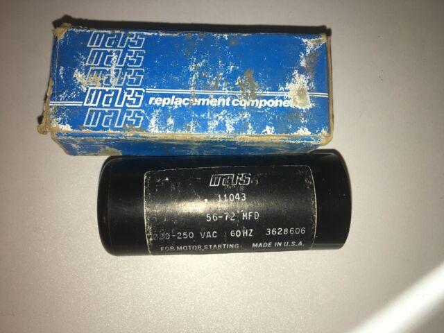 Motor Start Capacitor 56-72 MFD 220-250 VAC MARS 11043