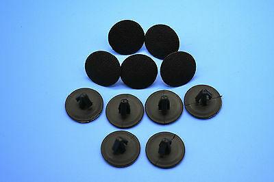 10pcs Mercedes Benz Black Hole Plugs Blanking Grommet Trim Snap Clips