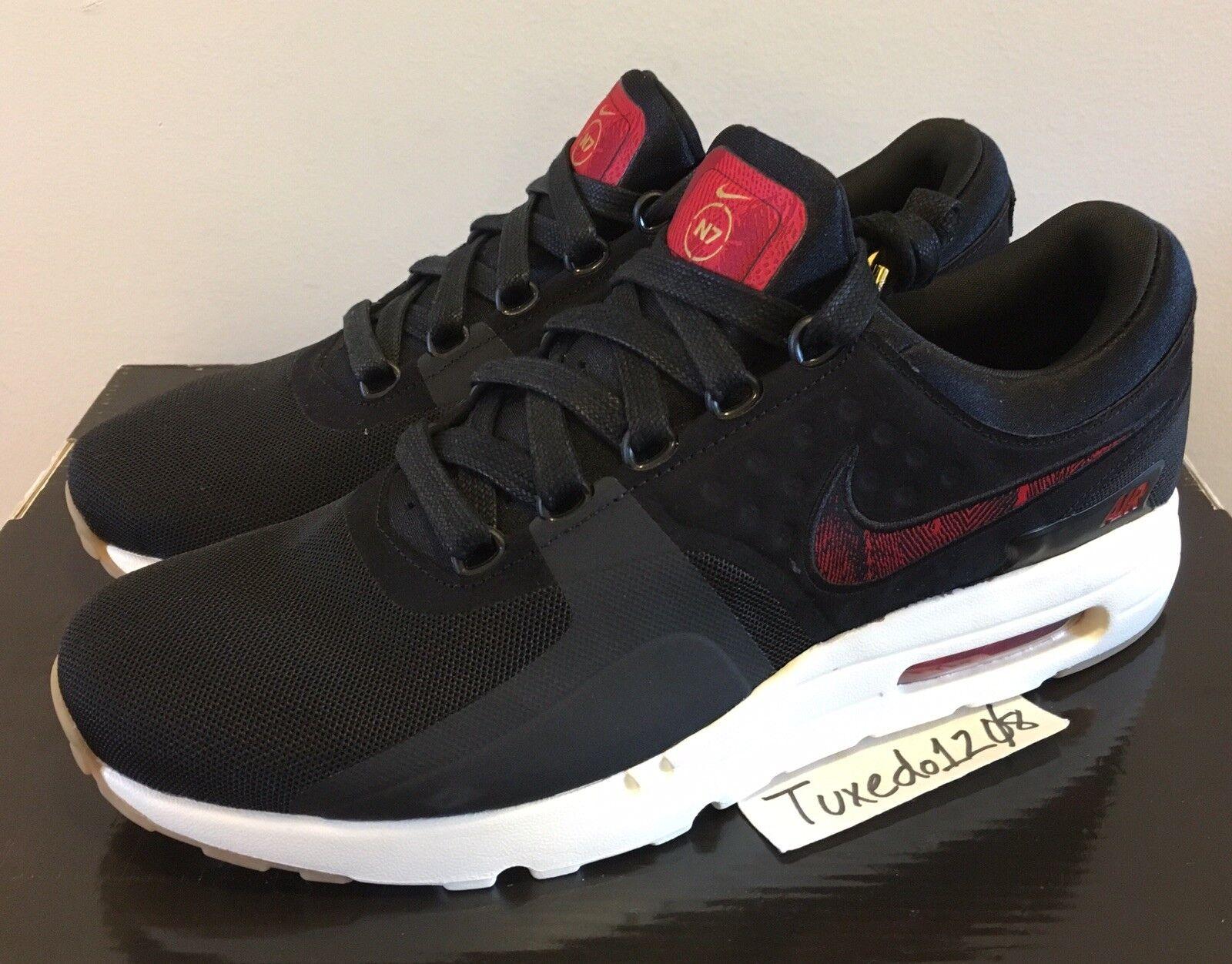 huge discount b595e b95f7 DS Nike Air Max Zero N7 sz11.5 Black Red trainer 1 90 95 97
