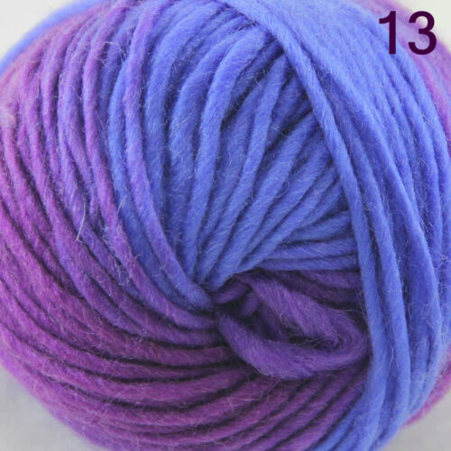 SALE LOT 1ball x 50gr NEW Chunky Colorful Hand Knitting Scores Wool Yarn 813