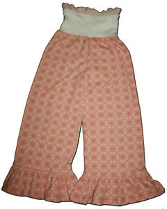 New-PERSNICKETY-Size-8-MEADOW-DANCE-Peach-Pink-Ruffle-BELL-Pants