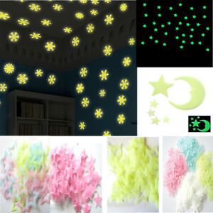 Hot-Glow-In-The-Dark-Snow-Wall-Stickers-Star-Moon-Luminous-Kids-Room-Decor