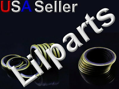 Metal Rubber Bonded O Ring Seal Washer Oil Pan Drain Plug NBR Compound Gasket