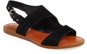 State Women/'s Calen Suede Leather 3 Strap Open Toe Fashion Sandals Black 1