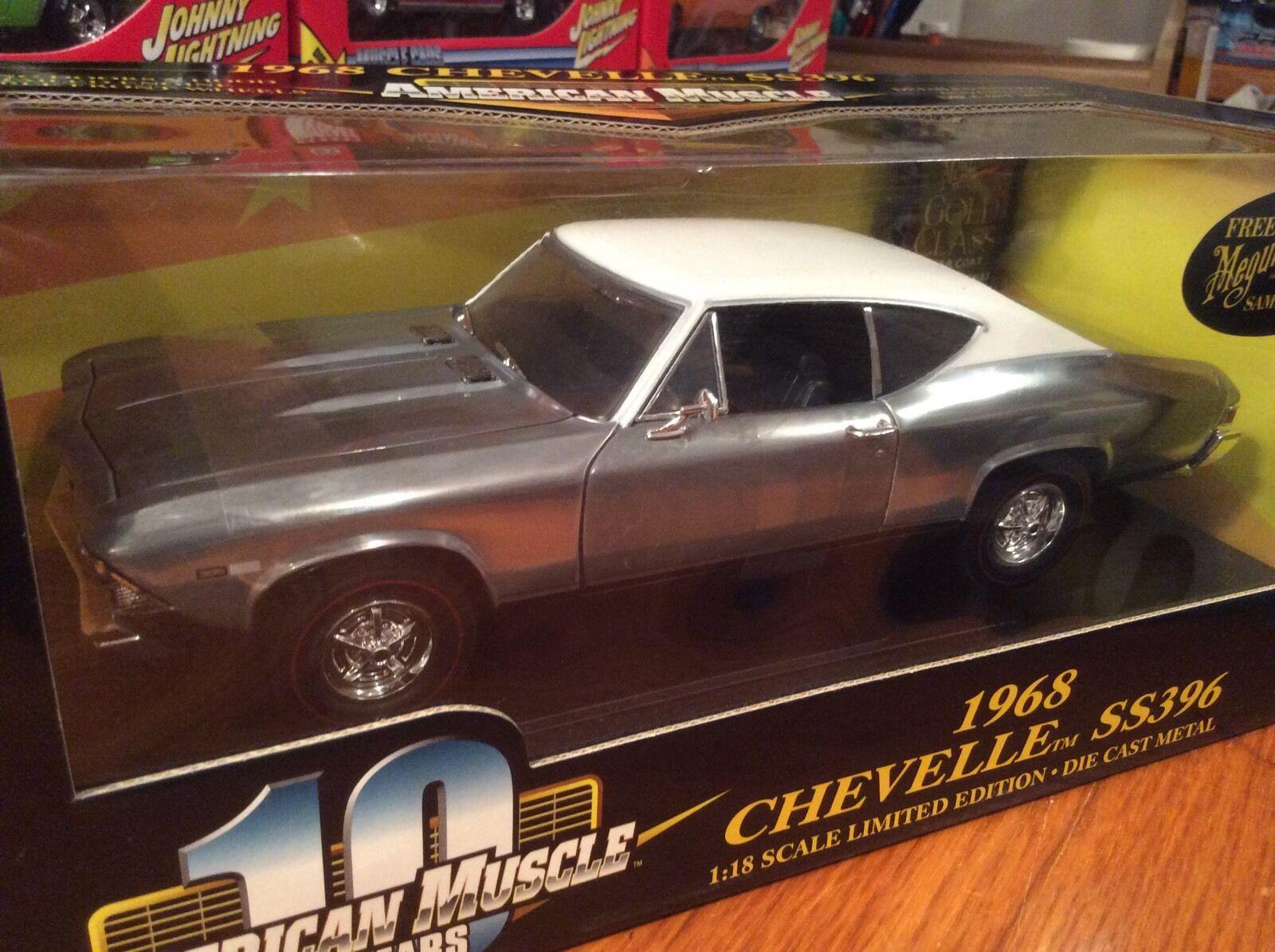 Ertl 1 18 1968 Chevy Chevelle SS396 Chase coche artículo 36382