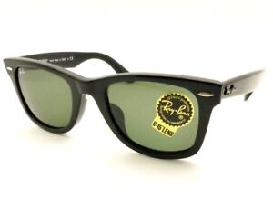 e87cfc3d02 Ray Ban Classic Wayfarer 2140 F ASIAN FIT Black 901 G15 New ...