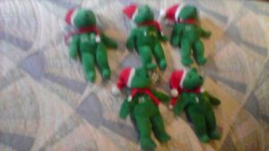 Lot (5) Bamm Beanos Baseball Holiday Green Bears NEW