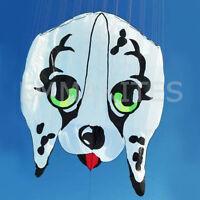 HOT Huge 7.5M / 24.6ft Parafoil 3D Dog Soft Kite Frameless Single Line Easy Fly