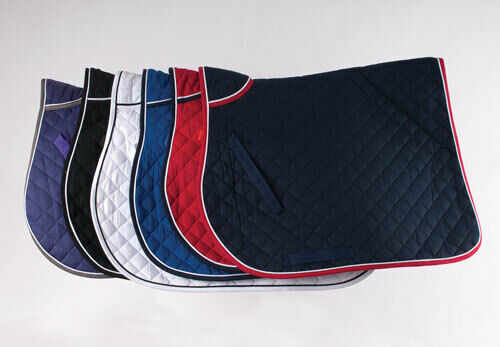 Stock Clearance.Cob//Full Sizes Rhinegold Red with Black//White Trim  Saddlecloth