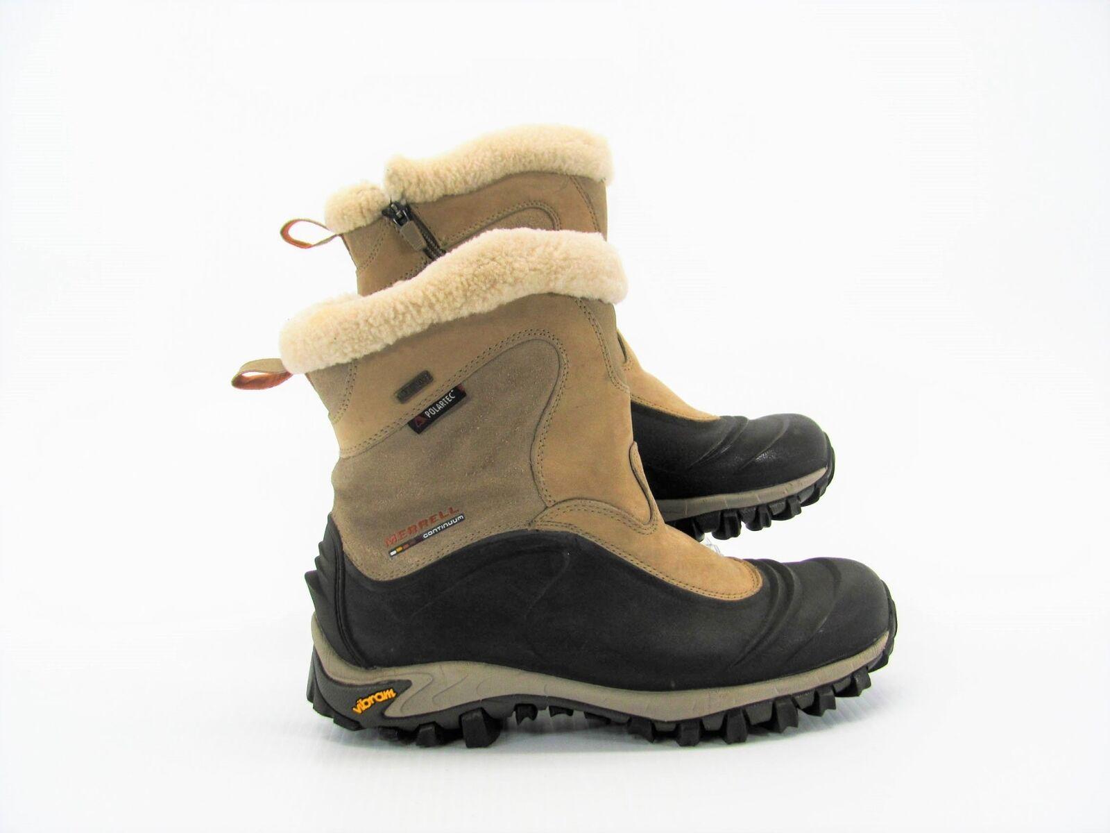Merrell Continuum Women Tan Brown Waterproof Boot shoes US 9M Pre Owned UI