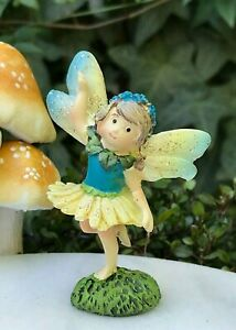 Buy 3 Save $5 Miniature Fairy Garden Girl Pixie Holding Butterfly